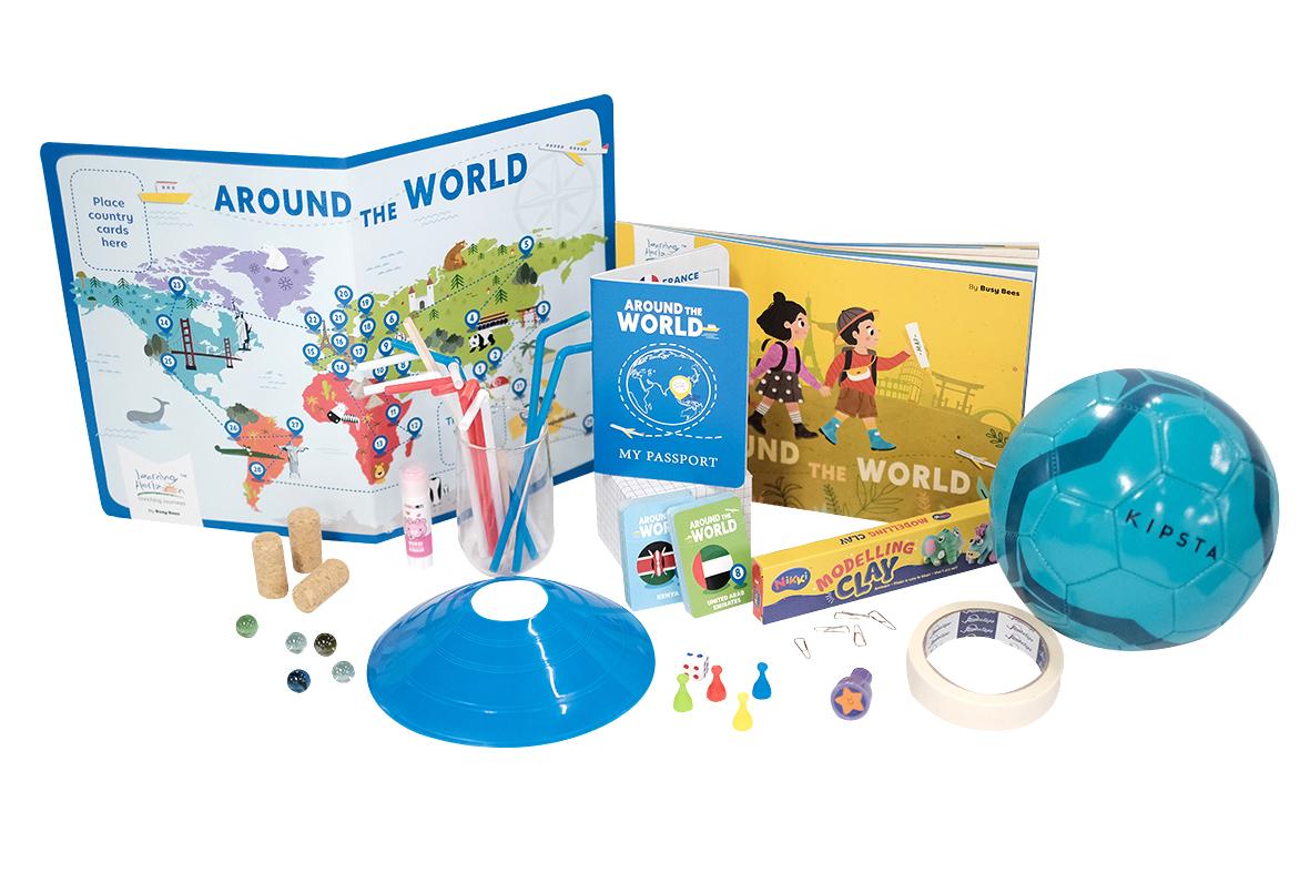 Around the World Material