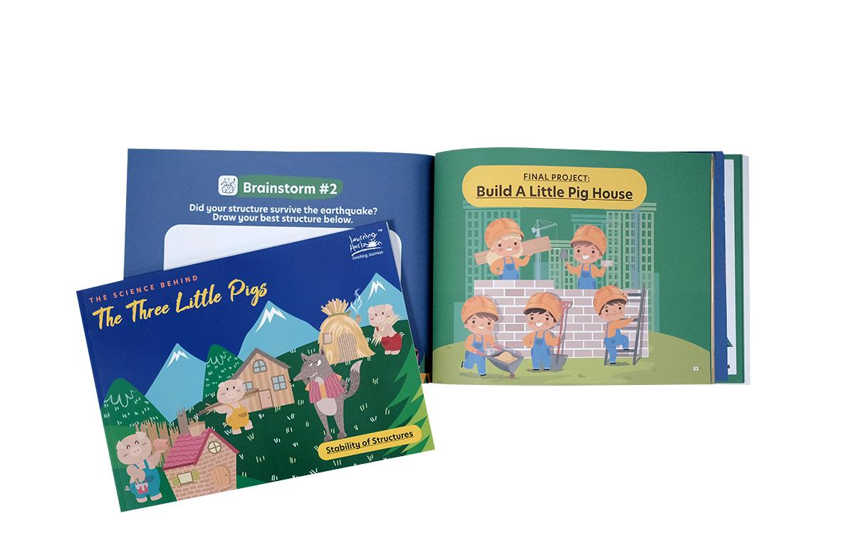Three Little Pigs Open Book