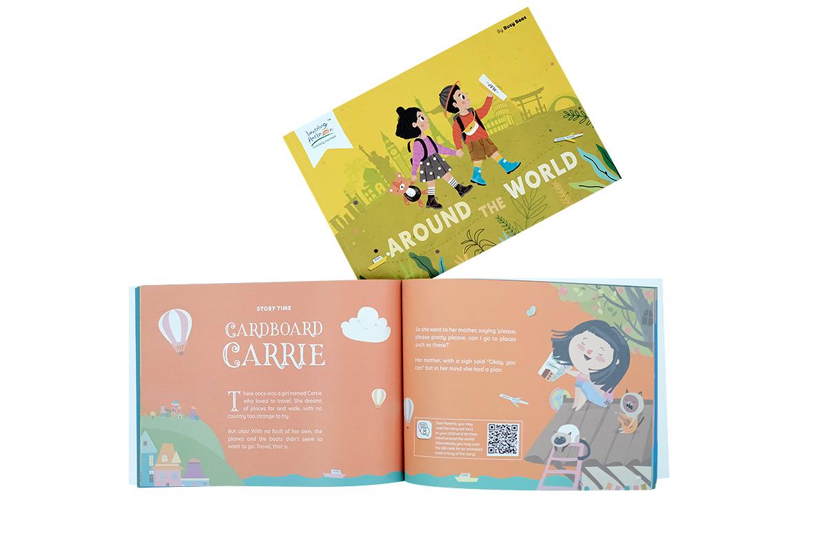Around the World Open Book